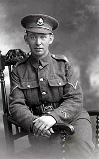 A corporal in the Sherwood Foresters.
