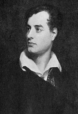 6th Lord Byron (1788-1824) by Thomas Phillips, painted in 1813.