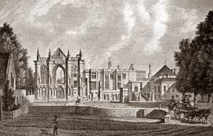 Newstead Abbey in the 18th century.