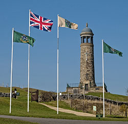 The Regimental Memorial Tower at Crich.