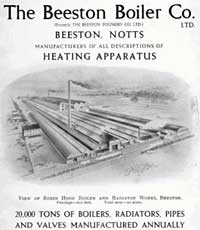 Advert for The Beeston Boiler Co. from 1932.