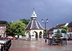 The Victorian market cross, Bingham.