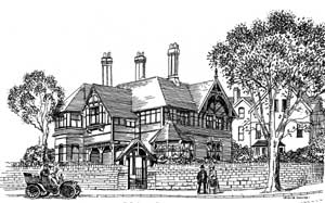 Clawson Lodge was designed by Watson Fothergill in 1885 and is now a BUPA Health centre.
