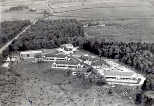 Harlow Wood from the air in the 1930s.