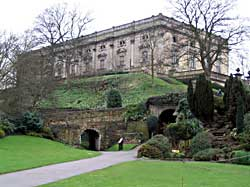 The Ducal mansion of Nottingham Castle was built in the late 17th century and extensively restored in the 1890s.
