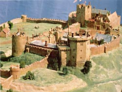 Nottingham castle, c.1500 (model by P Dixon and D Taylor).