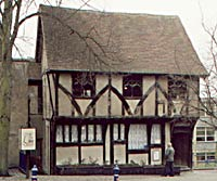 The 15th century Severns building is now on Castle Road; it was originally sited on Middle Pavement but was dismantled and moved in the late 1960s.