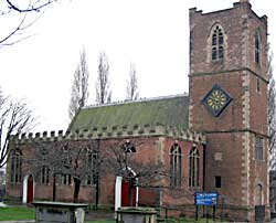St Nicholas' church was rebuilt in brick after being severely damaged during the siege of the town and castle during the English Civil War.