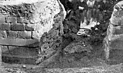 Remains of the medieval town wall discovered at the top of Market Street in 1866.