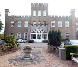 The north front of Tollerton Hall.