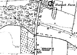 "OS 6"" map of Hodsock Farm , near Blyth (1880)"