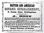 Boots' First Known Advert, 1854 (CAIS 914)
