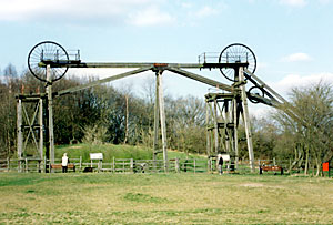 The Brinsley Colliery headstocks date from 1875.
