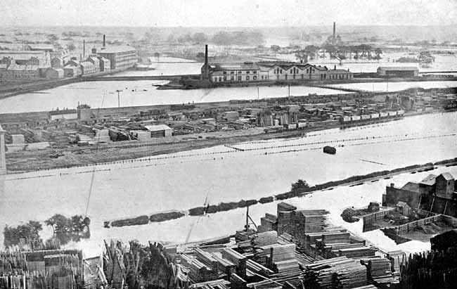 The Great Flood of 1875: view from the castle.