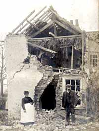 House in Whatton hit by lightning in March 1904.